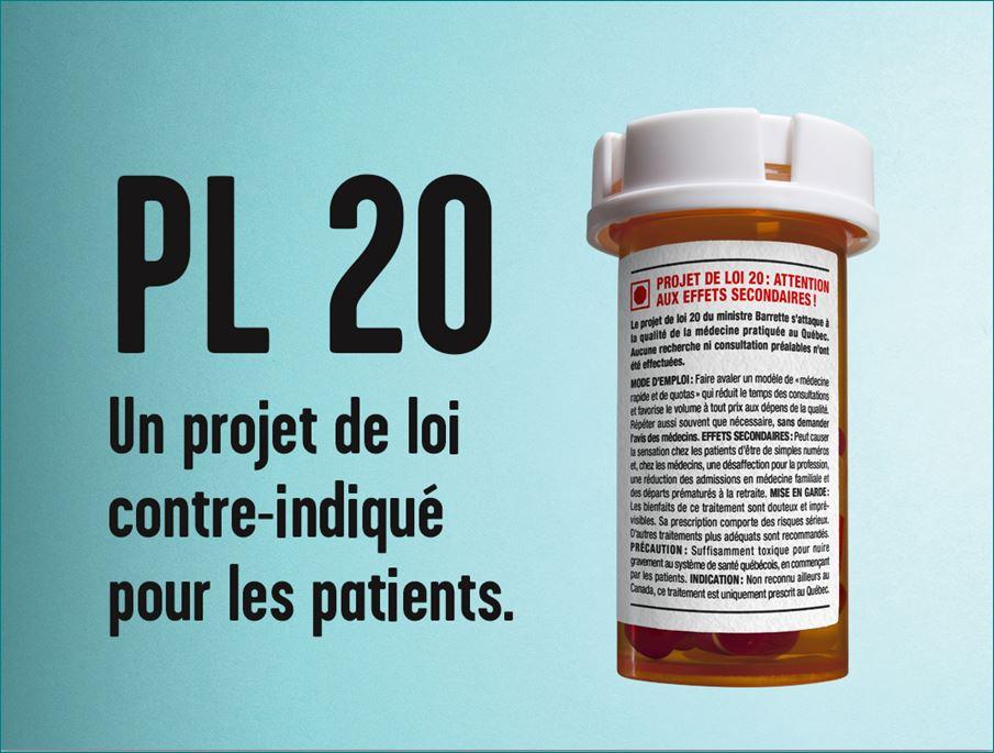 PL20 Un projet de loi contre-indiqué pour les patients